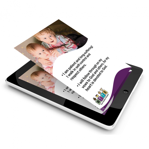 Generational Blessings Flash Cards on iPad