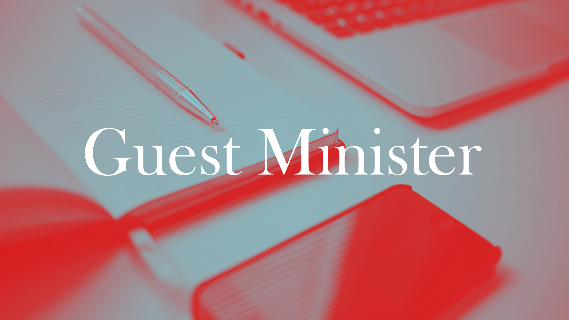 Guest Minister Banner