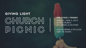 GIVING LIGHT CHURCH PICNIC