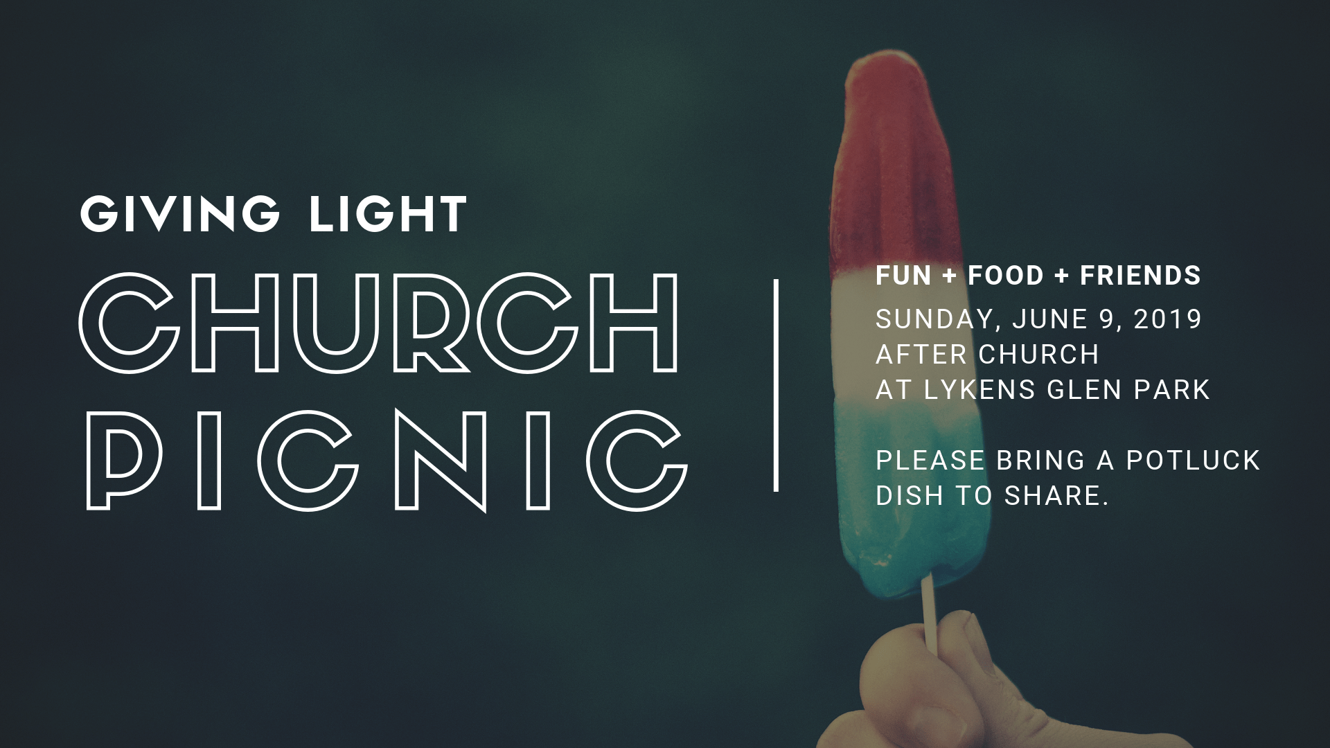 GIVING LIGHT CHURCH PICNIC