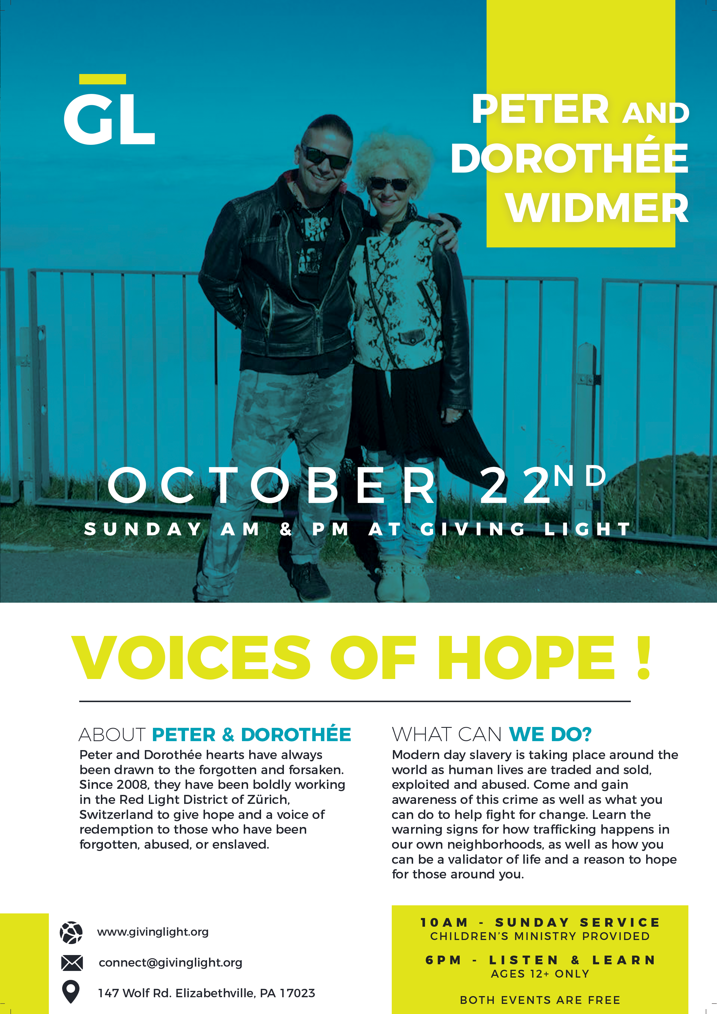 Voices of Hope Poster with Peter and Dorothee Widmir