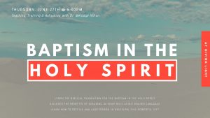 BAPTISM IN THE HOLY SPIRIT TRAINING