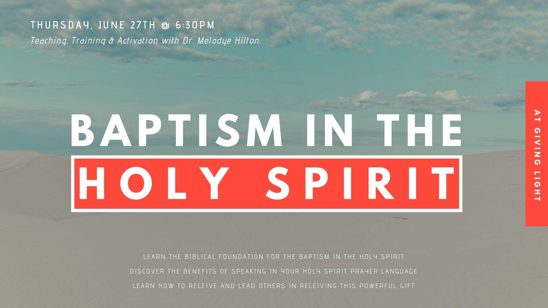 BAPTISM IN THE HOLY SPIRIT TRAINING