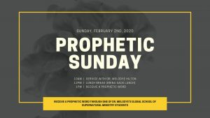 Prophetic Sunday
