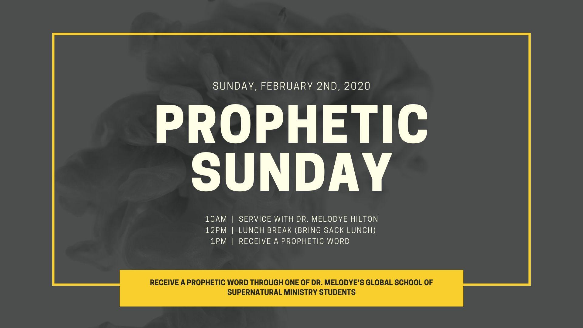 Prophetic Sunday
